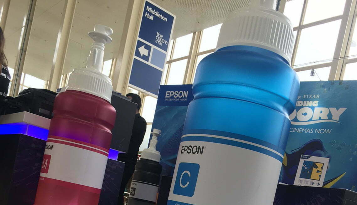 Point of sale Epson ink bottles